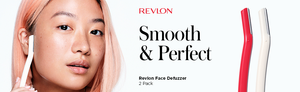 Revlon Defuzzer Facial Blades for Smooth Skin - Peach Fuzz, Brow Shaping, Sideburns & Unwanted Hairs