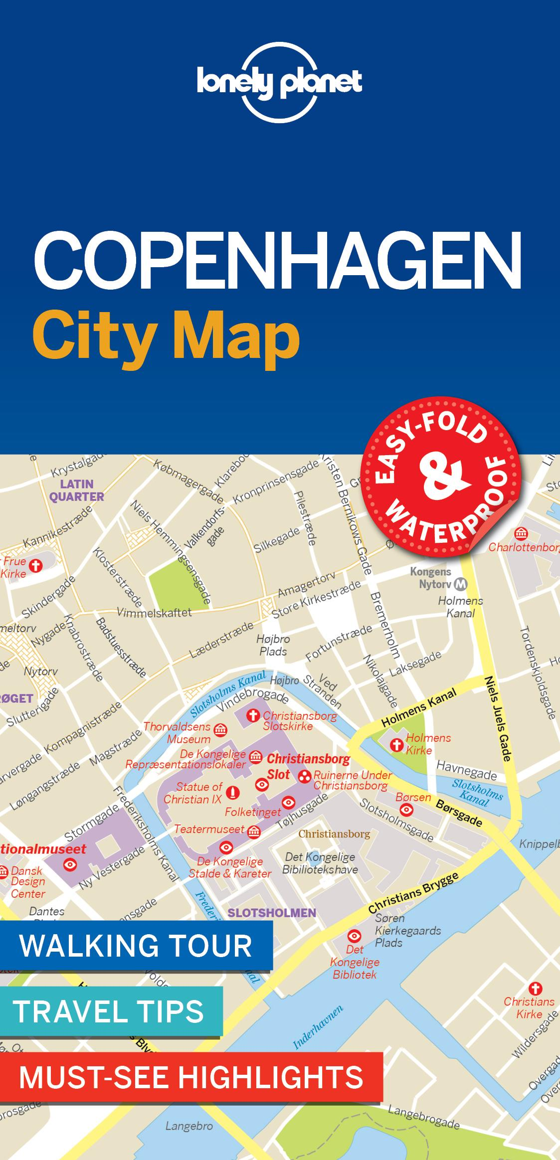Lonely Planet Copenhagen City Map: Lonely Planet