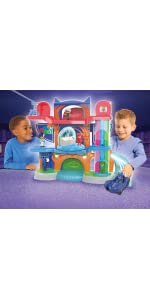 ... pj masks headquarters, catboy, catcar, super hero playset