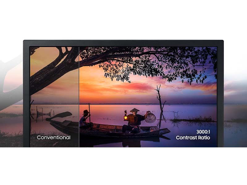 Conventional vs Contrast 3000:1 ratio on the A31 Monitor