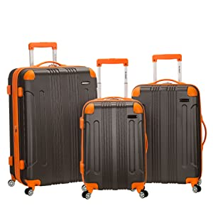 Black Rockland Luggage Celebrity 3 Piece Luggage Set One Size Fox Luggage F129-BLACK