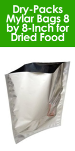 Dry-Packs 50-1-Gallon Mylar Bags, 10 by 14-Inch for Dried Dehydrafted