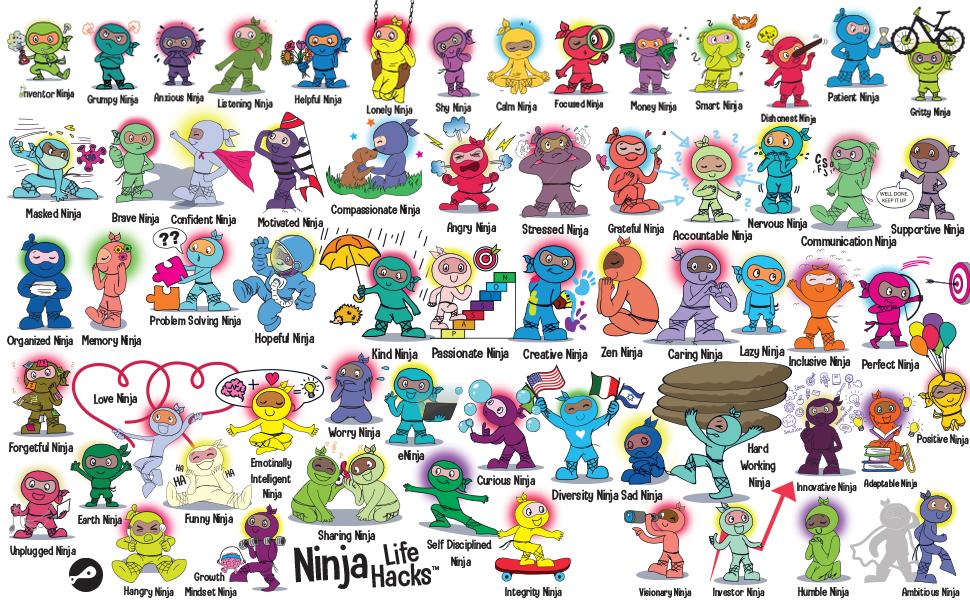 books, childrens book, ninja book, children's book series, Grow Grit Press Ninja Series