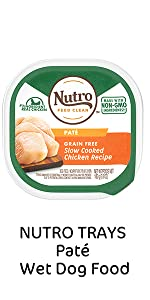 Nutro Trays Pate Wet Dog Food, Soft Dog Food, Easy peel Trays, Chicken, Protein, Meat
