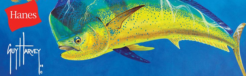 Guy Harvey Fishing Pocket Boat T-shirt..S//S Fish Fry..Pool Blue..3XL