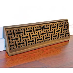 Accord Ambbabb15 Baseboard Register With Wicker Design 15