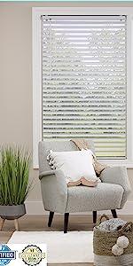 dez furnishings cordless vinyl venetian plantation blind child safe shade window covering all strong