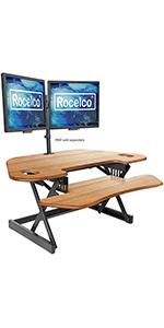 Standing desk converter, desk riser, standing desk, adjustable desk riser, mobile desk riser