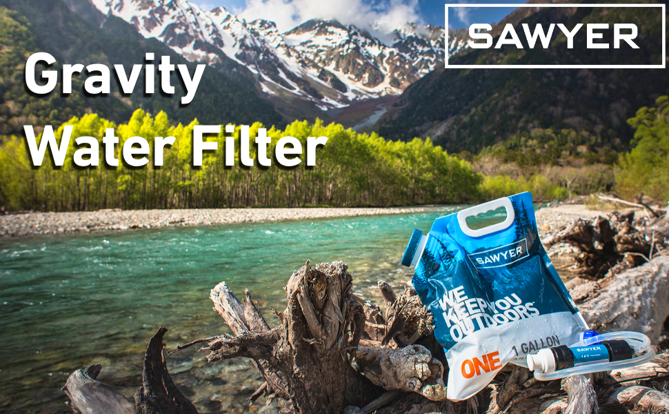 Sawyer Gravity Water Filtration System with 0.1 Micron Water Filter