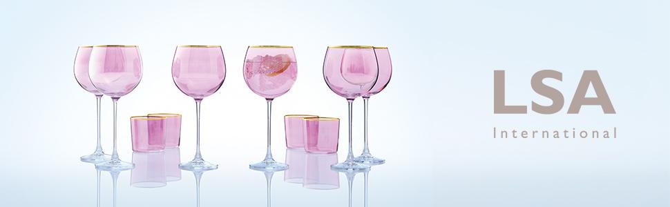 lsa international handmade glass mouthblown by artisans sorbet collection balloon glass