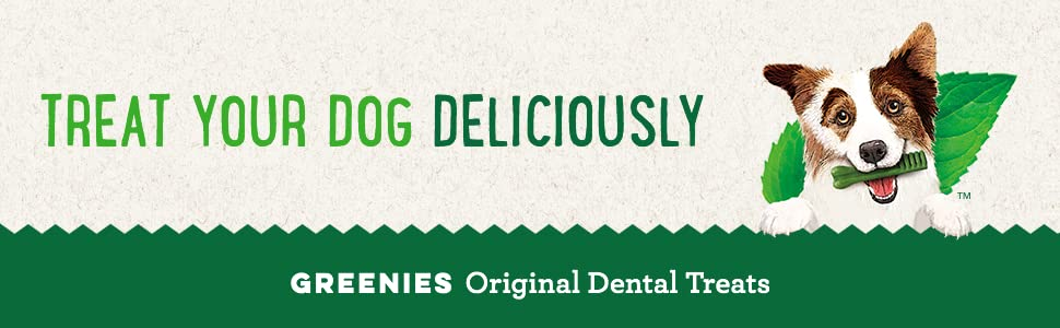 GREENIES Treats for Dogs are a great-tasting way to promote oral health in adult dogs.