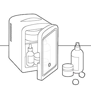 Skincare mini fridge cooler small portable office can car bedroom desk skin care electric beauty