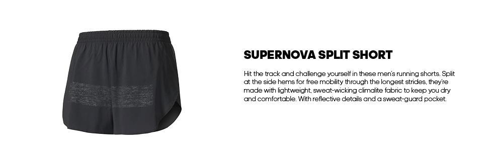 adidas Men's Running Supernova Split Shorts [5WarK1411386