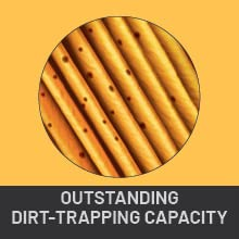 Dirt-Trapping Capacity
