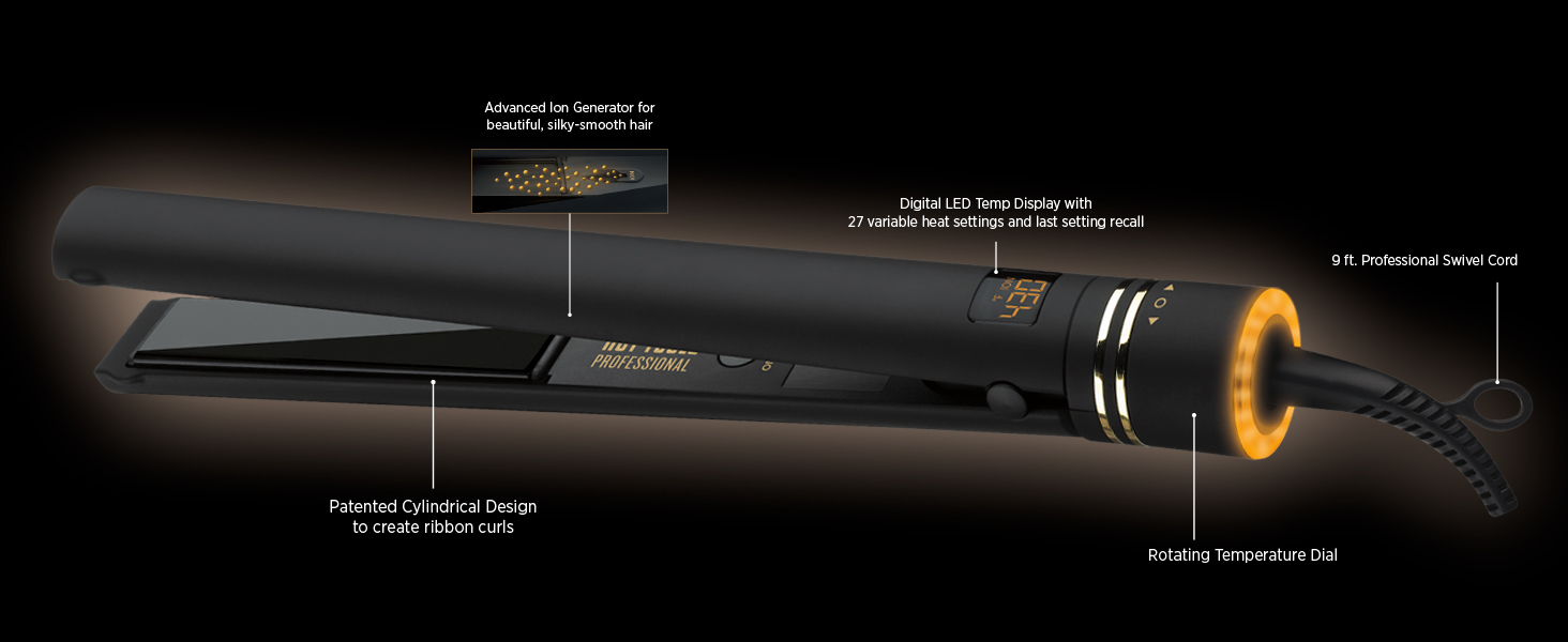 Amazon.com: HOT TOOLS Professional Black Gold Micro-Shine Flat ...