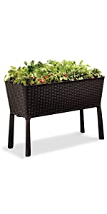 keter easy grow elevated garden bed