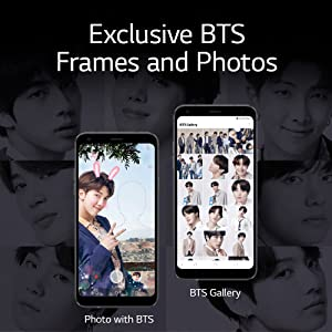 LG Electronics LG Q7+ Limited Edition BTS Factory Unlocked Smartphone -  Black (US Warranty)
