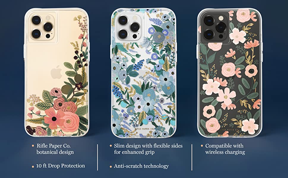 Black and Gold Floral Roses Wildflowers paint colors Watercolor flowers art Rifle Paper Co for iPhone 12 11 Pro Max X XS XR Max SE 7 8