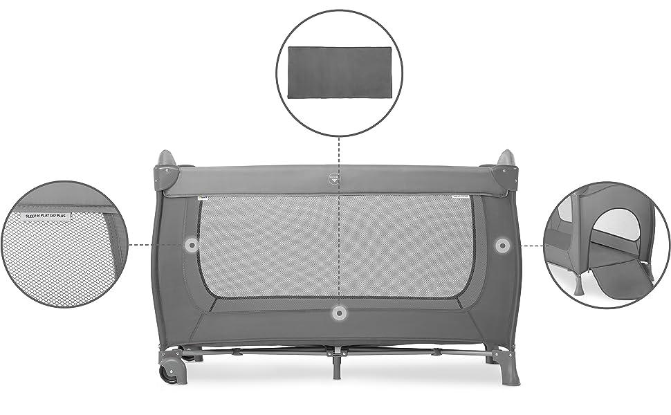 lit parapluie pour enfants pliable compact pour le voyage les vacances