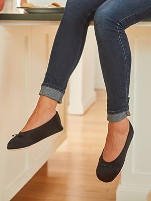 isotoner, Women's slipper, Victoria slipper, Ballerina Slipper, house shoe, womens, satin ballerina