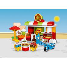 LEGO DUPLO Town - Pizzería, Juguete Creativo y Educativo de Construcción con Muñecos y Moto para Niños y Niñas de 2 a 5 Años (10834): Amazon.es: Juguetes y juegos