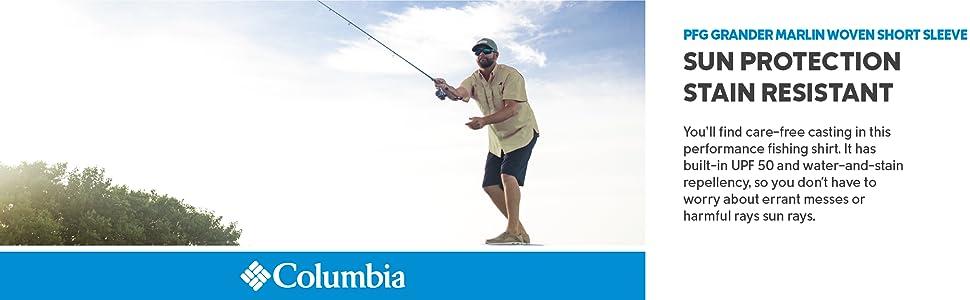 Columbia Men's PFG Grander Marlin Woven Short Sleeve Shirt