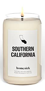 Souther California, Homesick, Candle, States, Cities, personalized gift, housewarming gift, home,