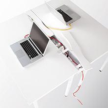 フタ式で配線の変更もラクラク 配線ダクト
