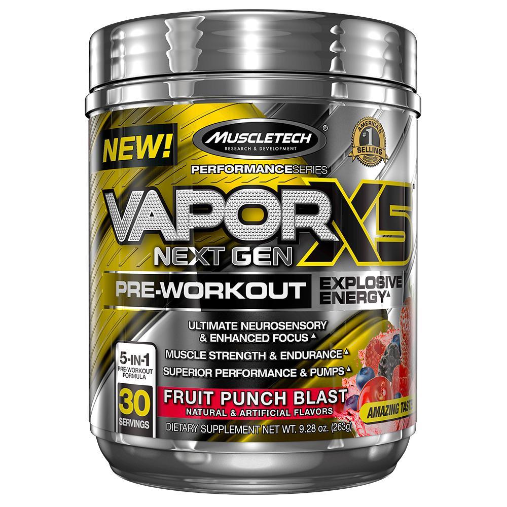 Amazon.com: MuscleTech Performance Series Vapor X5 Next Gen Pre-Workout Powder: Health