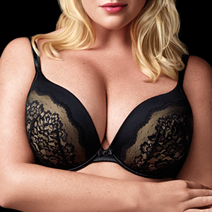 0cf753471c3a3 Olga Women s Flirty Deep Plunge Underwire Contour Bra with Lace at ...
