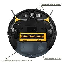 Bastilipo Bolero 1800TE-Robot Robot Aspirador 4 en 1 con Modo Turbo y Gran Potencia de succión 1800PA, Negro: Amazon.es: Hogar