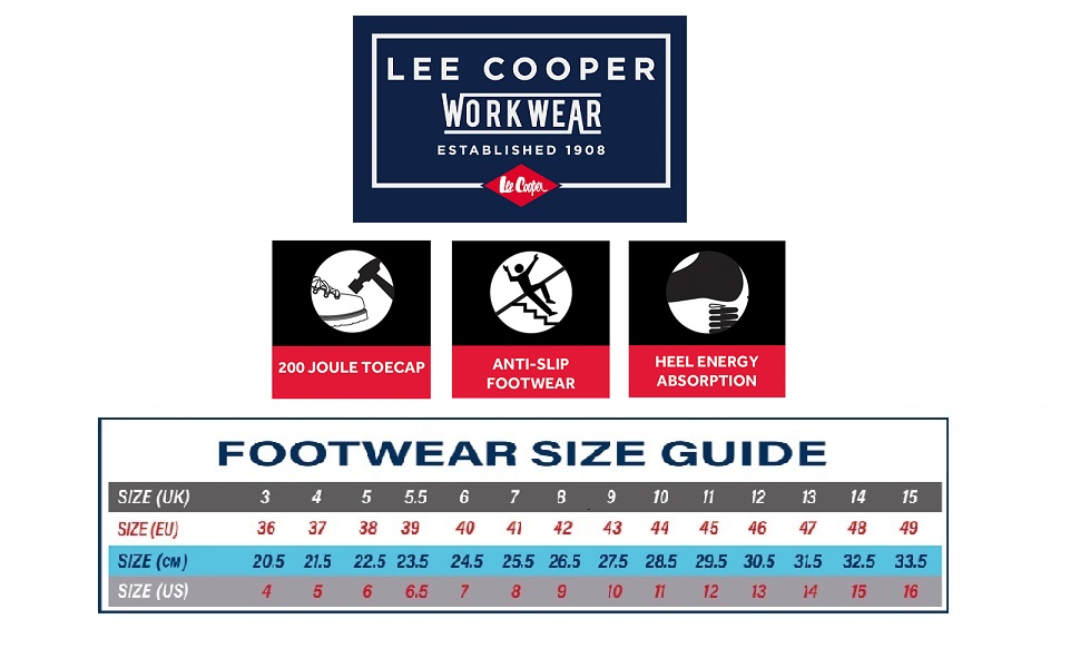 lee cooper technical features