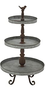b6ab31e86a ... Deco 79 54347 Metal 3 Tier Serving Tray Stand ...