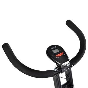 T-LoVendo TLV-XB01. Bicicleta estática Plegable Tipo X, detalle pantalla LCD.