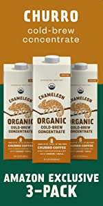 3-Pack Chameleon Organic Churro Flavored Cold-Brew Concentrate