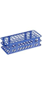 Fold Snap Tube Rack Heathrow Scientific Economical Polypropylene Autoclavable stand lab test blue