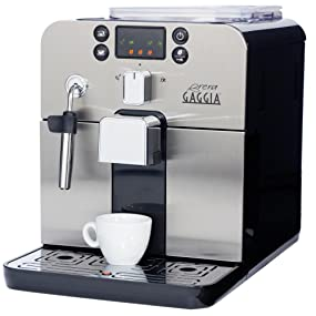 Italian Automatic Coffee Maker : Amazon.com: Gaggia Brera Super Automatic Espresso Machine in Silver. Pannarello Wand Frothing ...