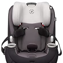 Forward rear facing convertible car seat side impact protection harness holders three in one modes