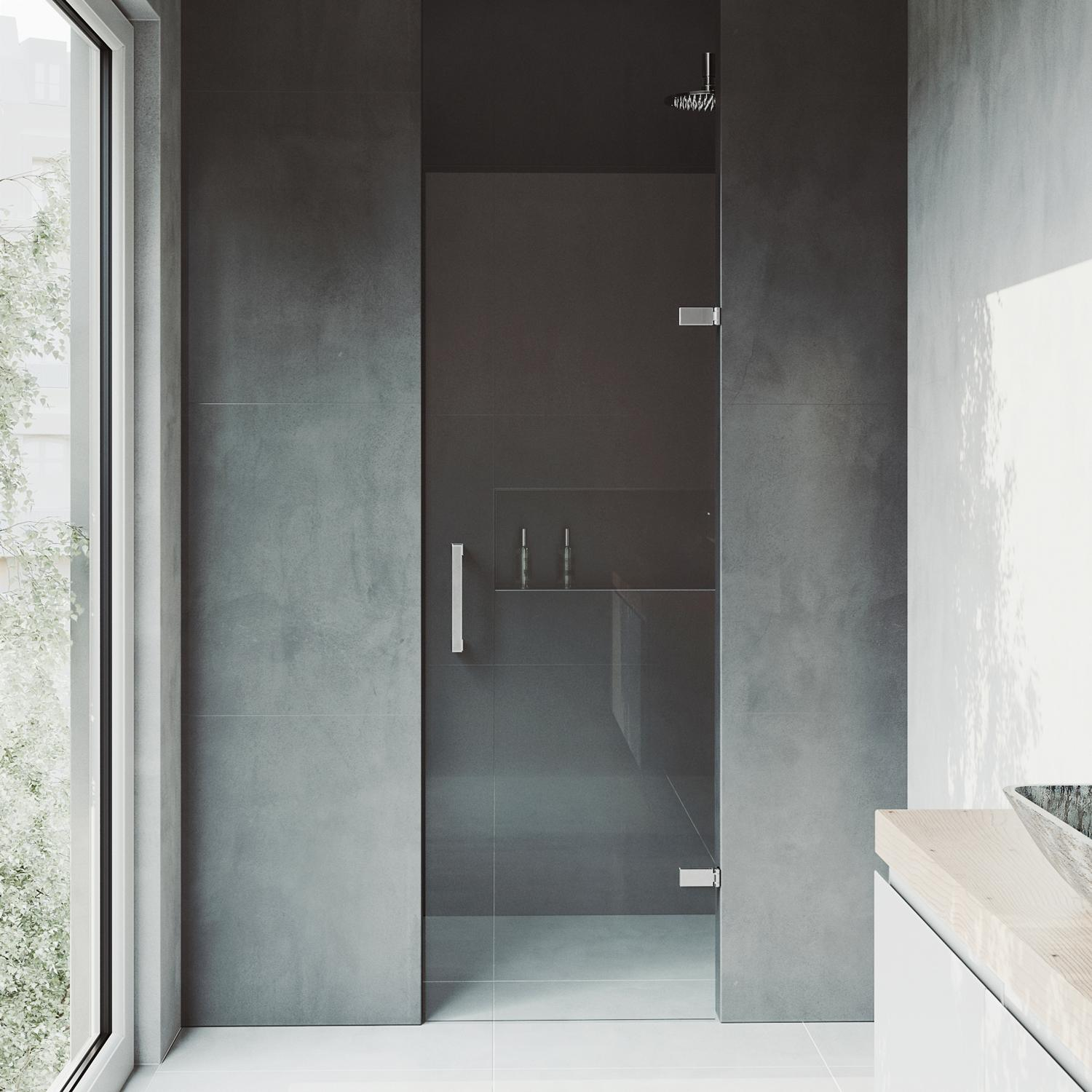 Vigo Soho 24 To 245 In Adjustable Frameless Shower Door With 3125
