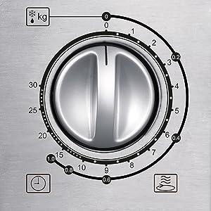 Severin MW 7869 - Microondas con grill, acero inoxidable mate, 900 W, color plata y negro