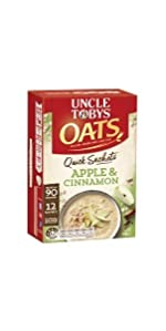 uncle tobys, uncletobys,quick,oats,oat,breakfast,snack,sachet,sachets,apple,cinnamon