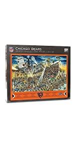 YouTheFan NFL Joe Journeyman 500 Piece Puzzle, Chicago Bears
