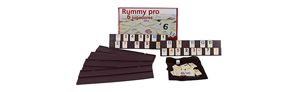Aquamarine Games - Rummy, 6 jugadores (DO001) , color/modelo surtido: Amazon.es: Juguetes y juegos