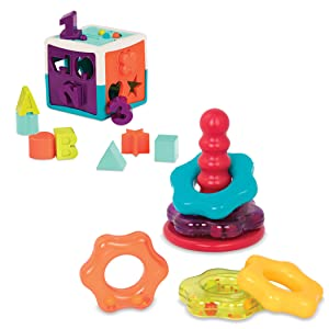 Fisher price baby stacking shape toy rings toddler Melissa doug green learning resources cube kids