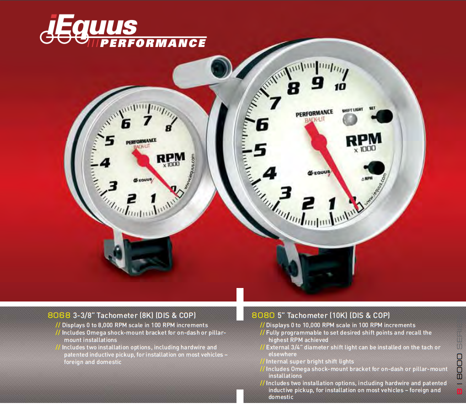 Equus 8256 2 Boost Gauge with Multi Color Back Light