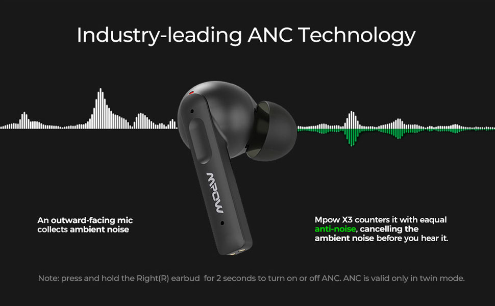 bluetooth earbuds ANC