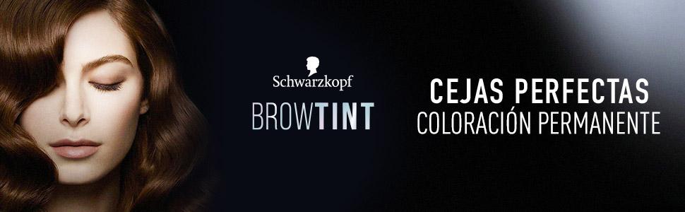 Schwarzkopf Brow Tint - Tinte De Cejas Rubio Oscuro Tono 6.1 (Pack de 3) – Coloración permanente - Color natural y duradero de hasta 4 semanas