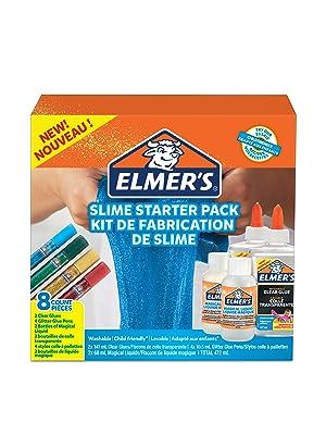 Elmers Kit Iniciación Slime con pegamento transparente, barras ...