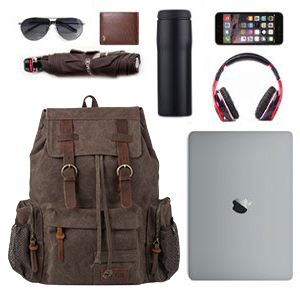 a6e84fc0f7a657 VDSL Vintage Canvas Leather Backpack