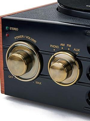 GPO Empire Reproductor de Discos de Vinilo Tocadiscos de 3 ...